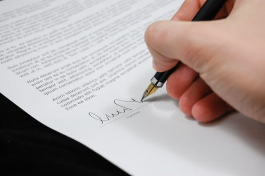 document agreement signature